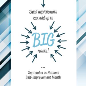 sharing tips on self improvement for self improvement month
