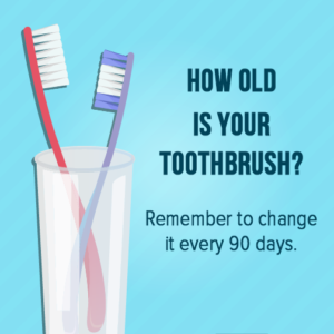 how old is your toothbrush poster